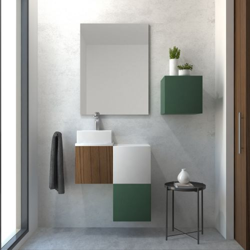Pack RYTHME nogal canaletto 30 cm + lavabo
