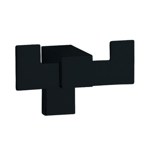Percha doble KARA negro mate 9,5cm